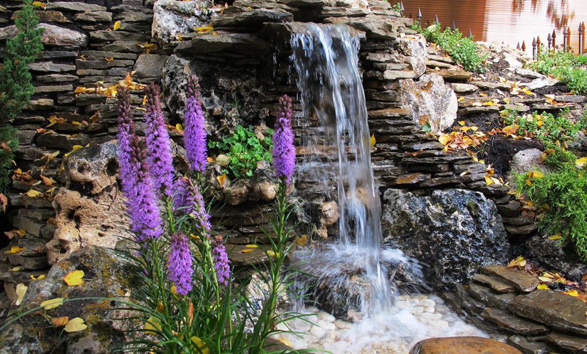 водопады на садовом участке в картинках забрать любом